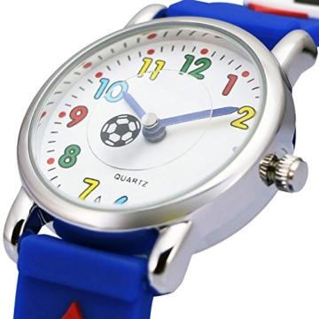 73ab6151ab Fußball Jungen Armband Zeiger Uhr Kinder Kinderuhr MpLqGzVSU