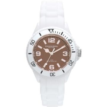 Cannibal Kinder-Armbanduhr Analog Silikon Weiß CK215-01H -