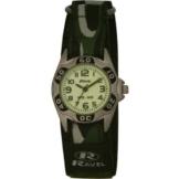 Ravel Jungen-Armbanduhr Nite Glo Analog Nylon grün R1704.11 -