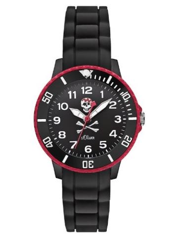 s.Oliver Jungen-Armbanduhr Analog Quarz Silikon SO-2588-PQ -