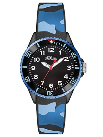s.Oliver Jungen-Armbanduhr Analog Quarz Silikon SO-3109-PQ -