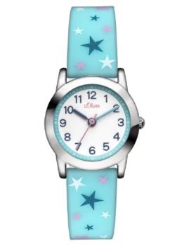 s.Oliver Mädchen-Armbanduhr Analog Quarz Silikon SO-2896-PQ -