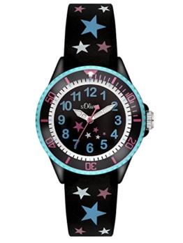 s.Oliver Mädchen-Armbanduhr Analog Quarz Silikon SO-3178-PQ -