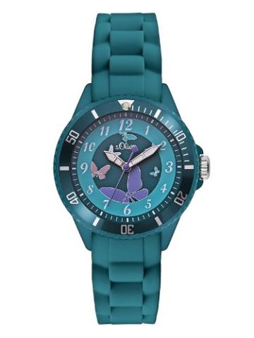 s.Oliver Mädchen-Armbanduhr Analog Quarz SO-2597-PQ -