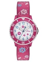 s.Oliver Mädchen-Armbanduhr Analog Quarz SO-2990-PQ -