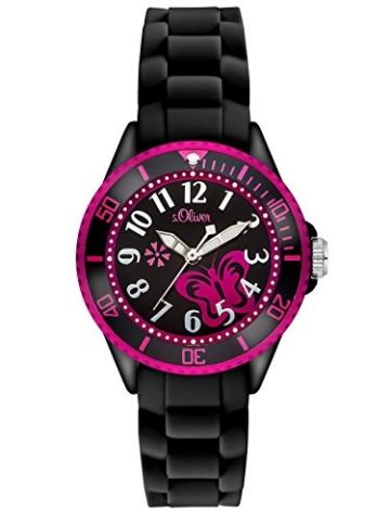 s.Oliver Mädchen-Armbanduhr Analog Quarz SO-2993-PQ -