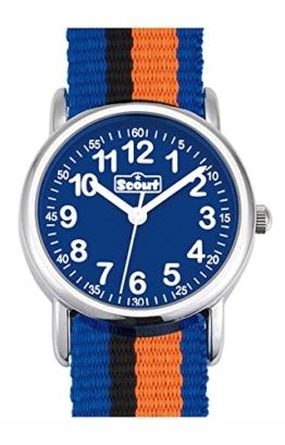 Scout Jungen-Armbanduhr Analog Quarz Textil 280304005 -