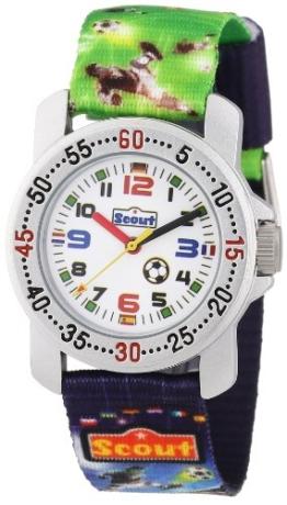 Scout Jungen-Armbanduhr Analog Quarz Textil 280376026 -