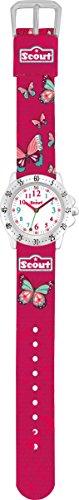 Scout Mädchen-Armbanduhr Analog Quarz Textil 280378003 -