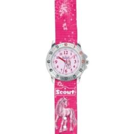 Scout Mädchen-Armbanduhr Analog Quarz Textil 280378007 -