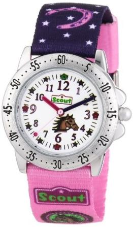 Scout Mädchen-Armbanduhr Analog Quarz Textil 280378065 -