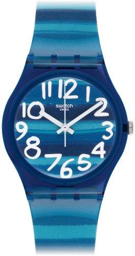 Swatch Unisex-Armbanduhr Linajola Analog Quarz Plastik GN237 -