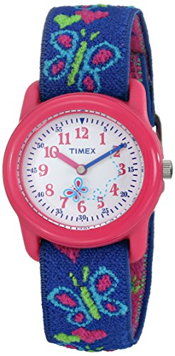 Timex Mädchen-Armbanduhr Analog Textil T89001 -